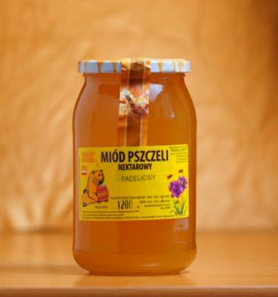 Miód nektarowy faceliowy, 1200g