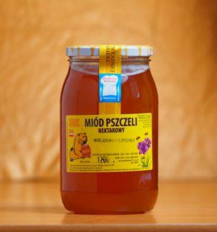 Miód nektarowy wielokwiatowy (lipcowy), 1200g