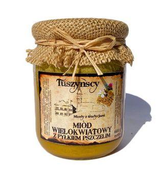 Miód wielokwiatowy z pyłkiem pszczelim