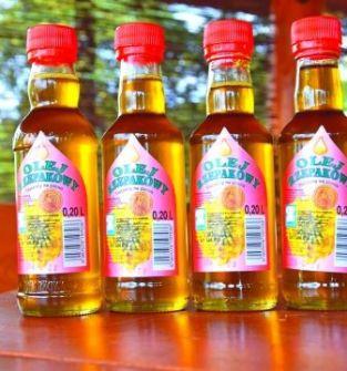 Olej rzepakowy tłoczony na zimno 20 ml