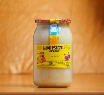 Miód nektarowy rzepakowy, 1200g
