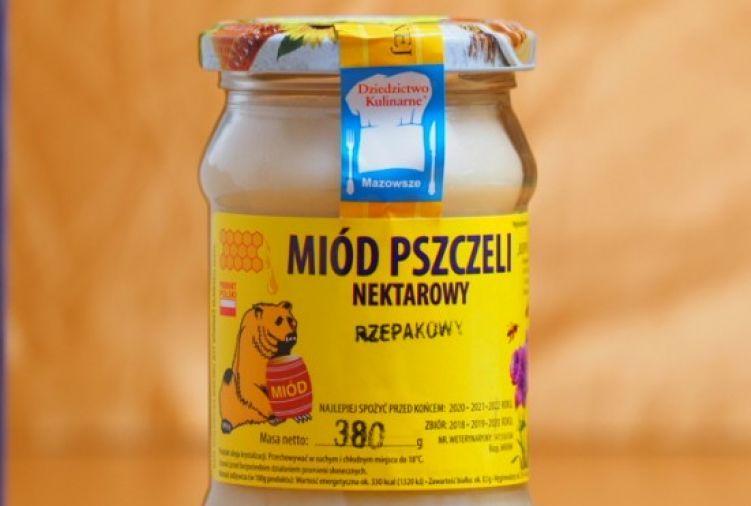 Miód nektarowy rzepakowy, 380g