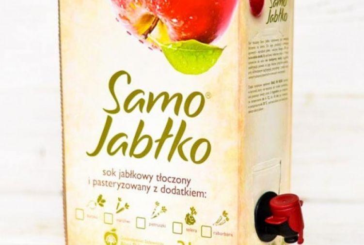 Sok jabłkowy 3l z dodatkiem soku owocowego, warzywnego lub przypraw