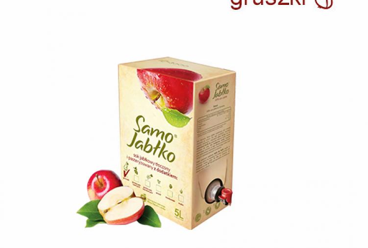 Sok jabłkowy 5l z dodatkami soku owocowego,warzywnego lub przypraw