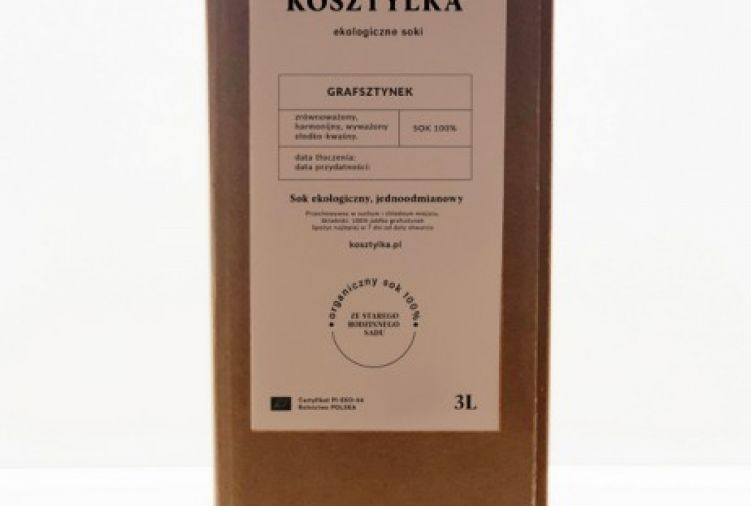 Grafsztynek - ekologiczny sok jabkowy 3L